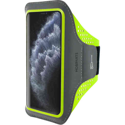 Mobiparts Comfort Fit Sport Armband Apple iPhone 11 Pro Neon Green
