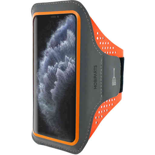 Mobiparts Comfort Fit Sport Armband Apple iPhone 11 Pro Neon Orange