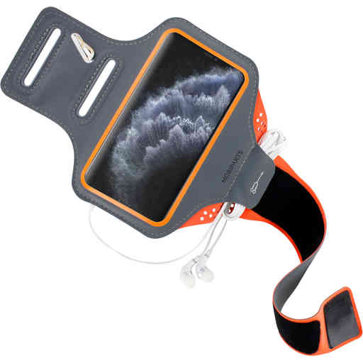 Mobiparts Comfort Fit Sport Armband Apple iPhone 11 Pro Neon Orange