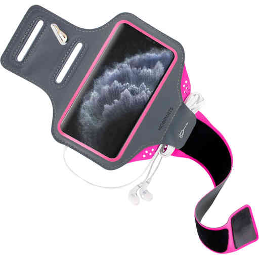 Mobiparts Comfort Fit Sport Armband Apple iPhone 11 Pro Neon Pink
