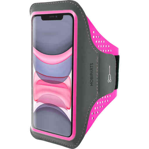Mobiparts Comfort Fit Sport Armband Apple iPhone 11 Neon Pink