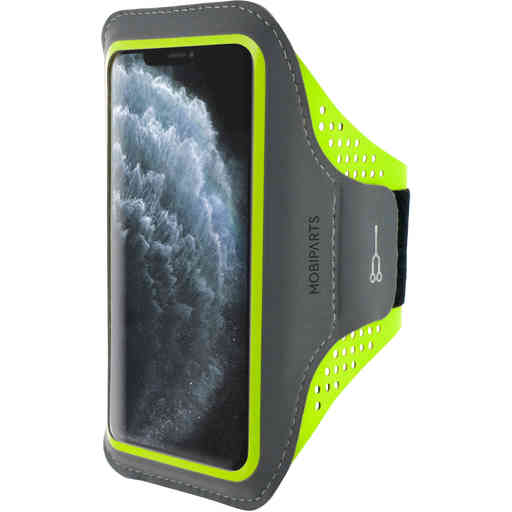 Mobiparts Comfort Fit Sport Armband Apple iPhone 11 Pro Max Neon Green