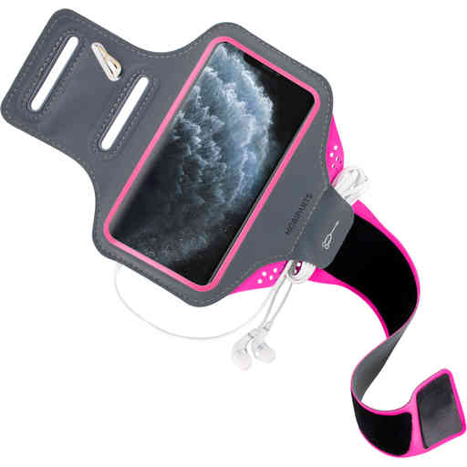 Mobiparts Comfort Fit Sport Armband Apple iPhone 11 Pro Max Neon Pink