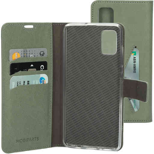 Mobiparts Classic Wallet Case Samsung Galaxy A51 (2020) Stone Green
