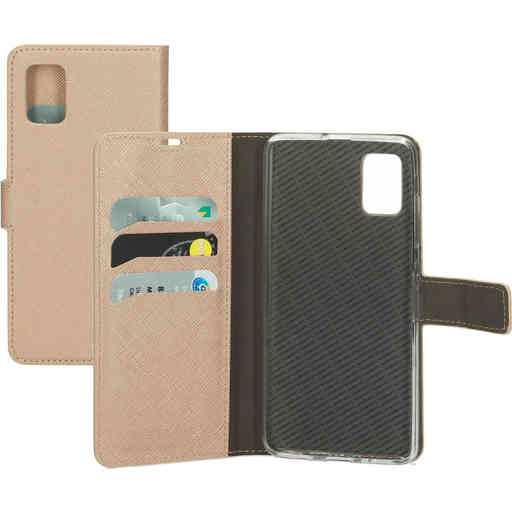 Mobiparts Saffiano Wallet Case Samsung Galaxy A51 (2020) Copper
