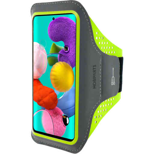 Mobiparts Comfort Fit Sport Armband Samsung Galaxy A51 (2020) Neon Green