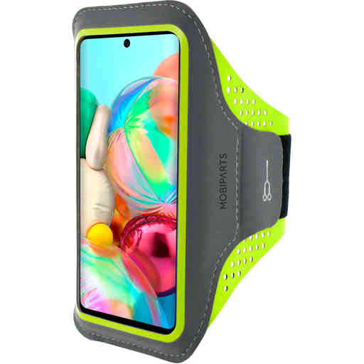 Mobiparts Comfort Fit Sport Armband Samsung Galaxy A71 (2020) Neon Green