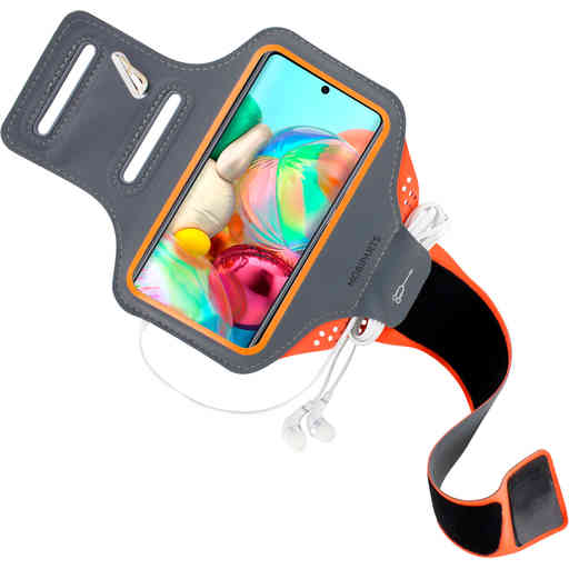 Mobiparts Comfort Fit Sport Armband Samsung Galaxy A71 (2020) Neon Orange