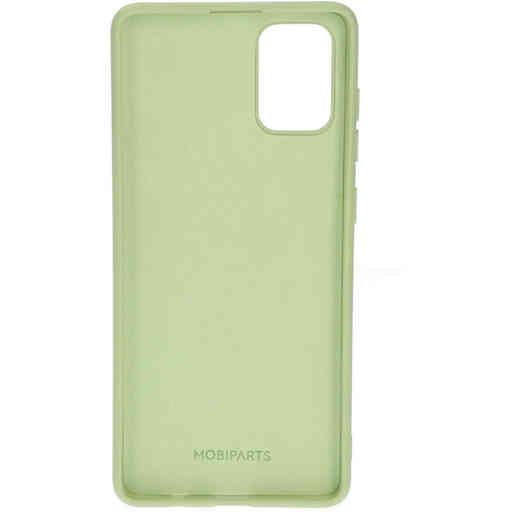 Mobiparts Silicone Cover Samsung Galaxy A71 (2020) Pistache Green