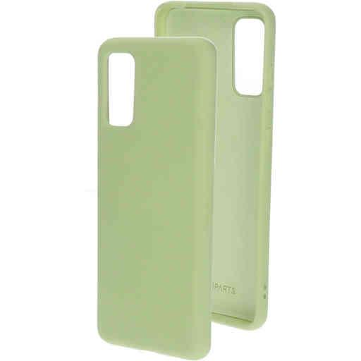 Mobiparts Silicone Cover Samsung Galaxy S20 4G/5G Pistache Green