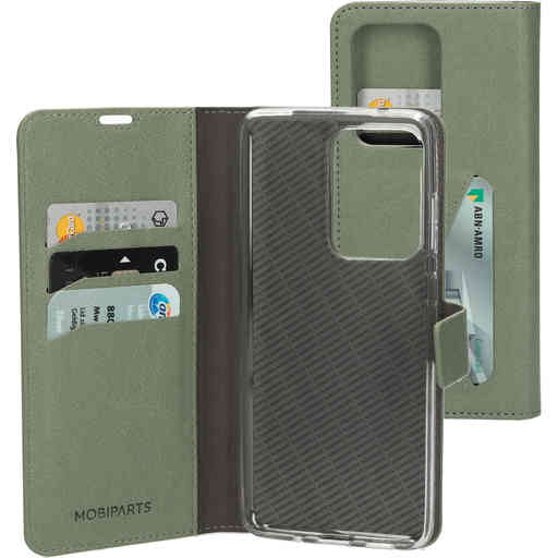 Mobiparts Classic Wallet Case Samsung Galaxy S20 Ultra Stone Green