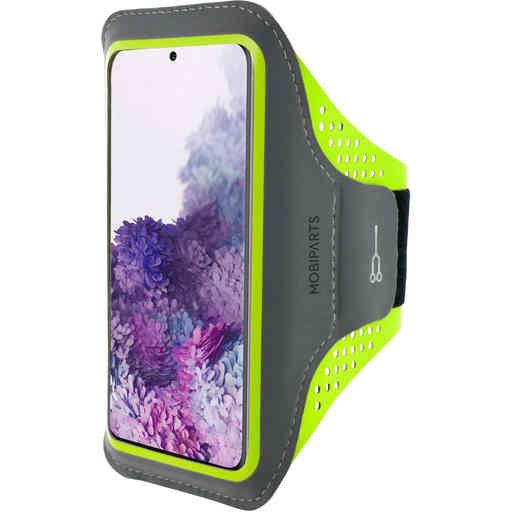 Mobiparts Comfort Fit Sport Armband Samsung Galaxy S20 Neon Green