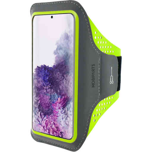 Mobiparts Comfort Fit Sport Armband Samsung Galaxy S20 Plus 4G/5G Neon Green