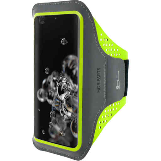 Mobiparts Comfort Fit Sport Armband Samsung Galaxy S20 Ultra Neon Green