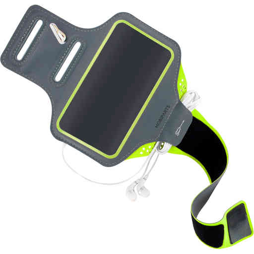 Mobiparts Comfort Fit Sport Armband Samsung Galaxy S20 Ultra 4G/5G Neon Green