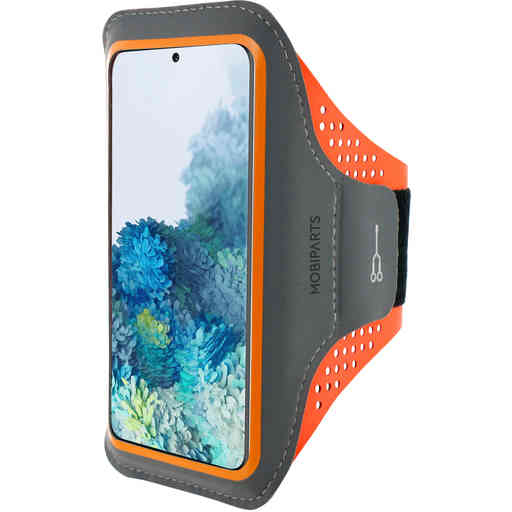 Mobiparts Comfort Fit Sport Armband Samsung Galaxy S20 Neon Orange