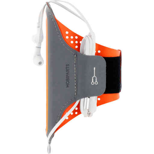 Mobiparts Comfort Fit Sport Armband Samsung Galaxy S20 Ultra Neon Orange