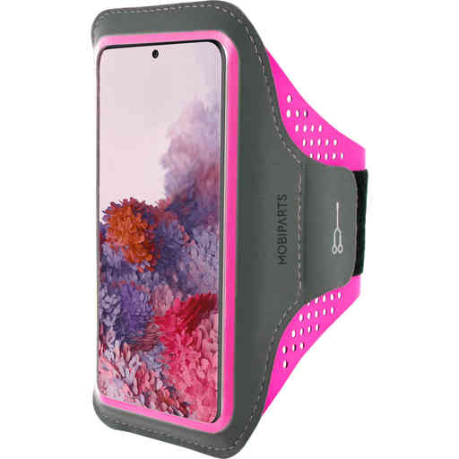 Mobiparts Comfort Fit Sport Armband Samsung Galaxy S20 4G/5G Neon Pink