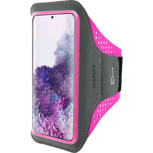 Mobiparts Comfort Fit Sport Armband Samsung Galaxy S20 Plus Neon Pink
