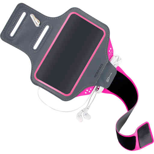 Mobiparts Comfort Fit Sport Armband Samsung Galaxy S20 Plus 4G/5G Neon Pink