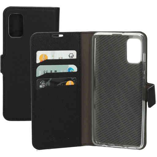 Mobiparts Saffiano Wallet Case Samsung Galaxy A41 (2020) Black