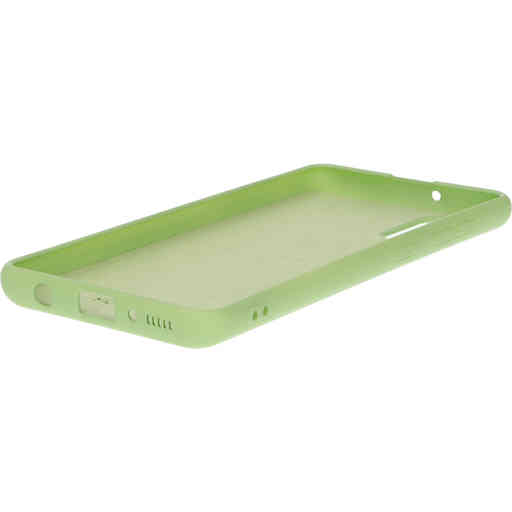 Mobiparts Silicone Cover Samsung Galaxy A41 (2020) Pistache Green