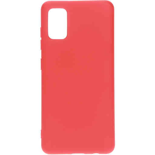 Mobiparts Silicone Cover Samsung Galaxy A41 (2020) Scarlet Red