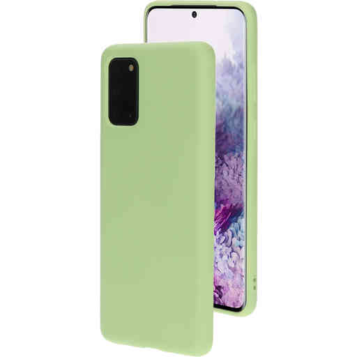 Mobiparts Silicone Cover Samsung Galaxy S20 Plus Pistache Green