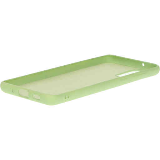 Mobiparts Silicone Cover Samsung Galaxy S20 Plus 4G/5G Pistache Green