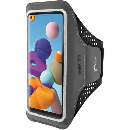 Mobiparts Comfort Fit Sport Armband Samsung Galaxy A21s (2020) Black