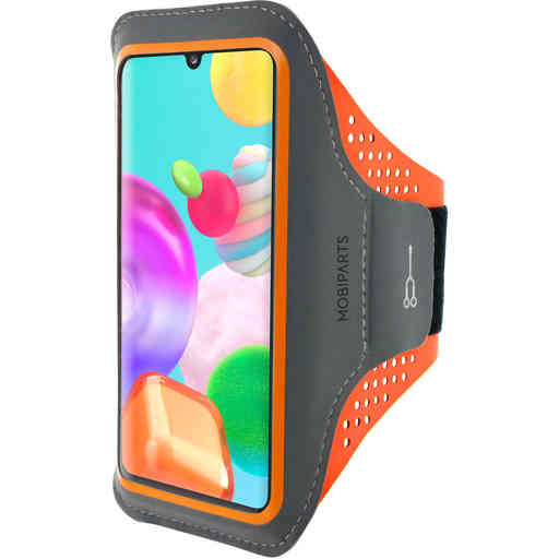 Mobiparts Comfort Fit Sport Armband Samsung Galaxy A41 (2020) Neon Orange