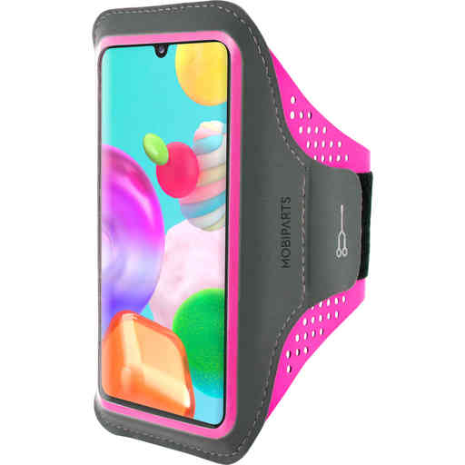 Mobiparts Comfort Fit Sport Armband Samsung Galaxy A41 (2020) Neon Pink
