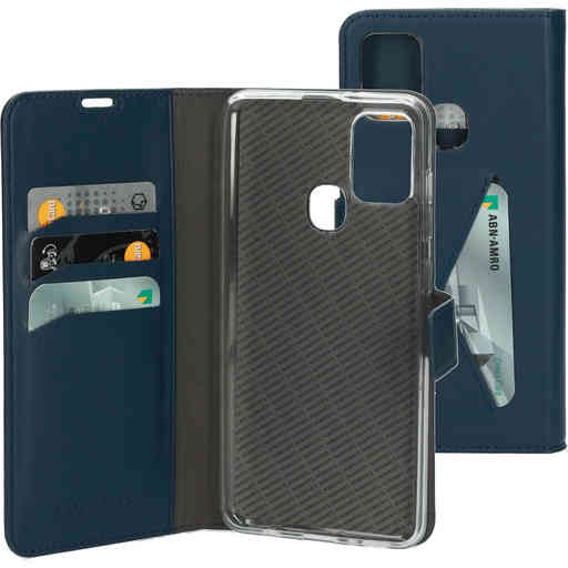 Mobiparts Classic Wallet Case Samsung Galaxy A21s (2020) Blue