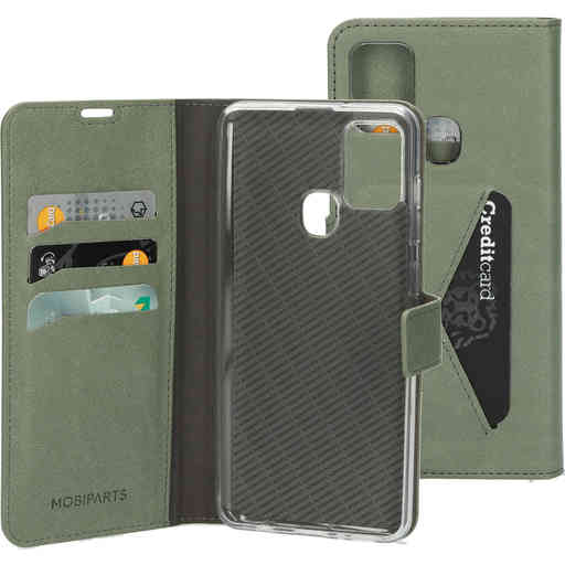 Mobiparts Classic Wallet Case Samsung Galaxy A21s (2020) Stone Green