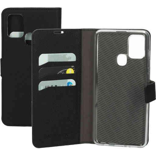Mobiparts Saffiano Wallet Case Samsung Galaxy A21s (2020) Black