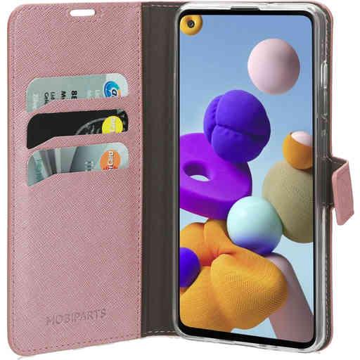 Mobiparts Saffiano Wallet Case Samsung Galaxy A21s (2020) Pink
