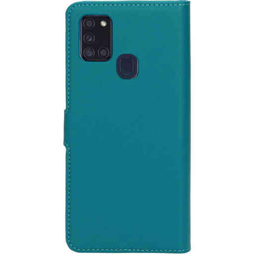 Mobiparts Saffiano Wallet Case Samsung Galaxy A21s (2020) Turquoise
