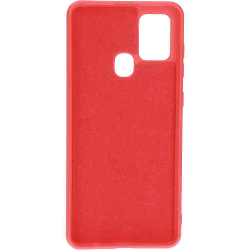 Mobiparts Silicone Cover Samsung Galaxy A21s (2020) Scarlet Red