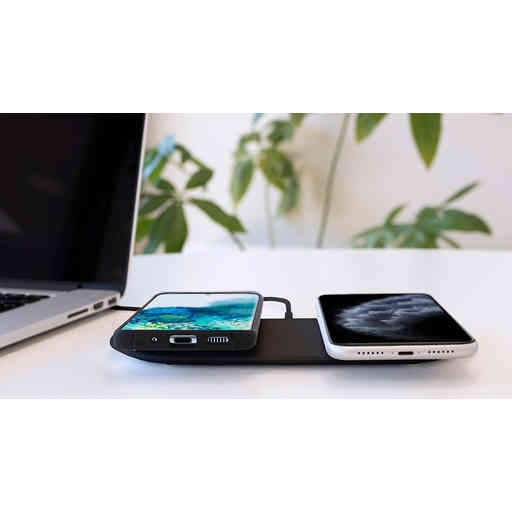 Mobiparts Dual Fast Wireless Charging Pad Black