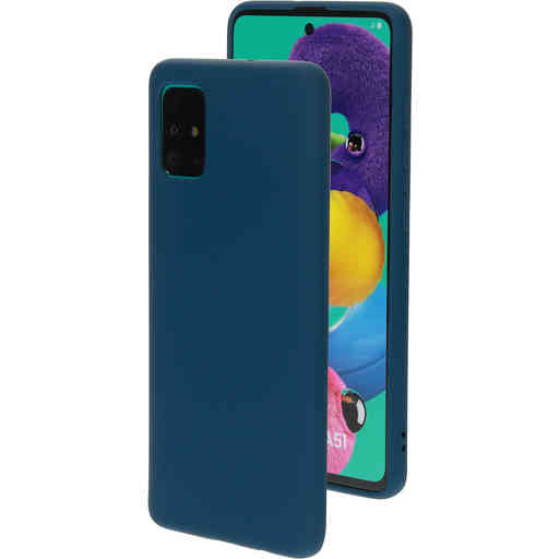 Mobiparts Silicone Cover Samsung Galaxy A51 (2020) Blueberry Blue