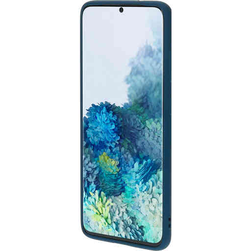 Mobiparts Silicone Cover Samsung Galaxy S20 4G/5G Blueberry Blue