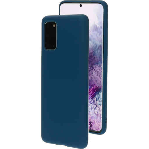 Mobiparts Silicone Cover Samsung Galaxy S20 Plus 4G/5G Blueberry Blue