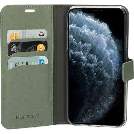 Mobiparts Classic Wallet Case Apple iPhone 11 Pro Max Stone Green