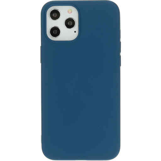 Mobiparts Silicone Cover Apple iPhone 12 Pro Max Blueberry Blue