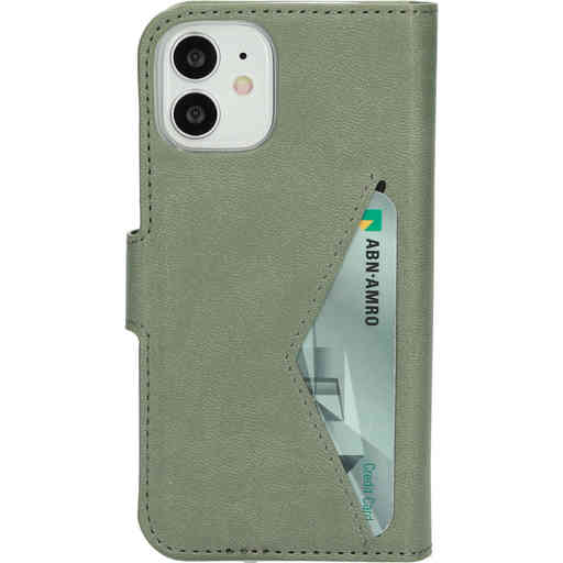 Mobiparts Classic Wallet Case Apple iPhone 12 Mini Stone Green