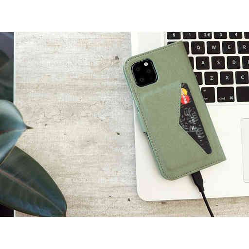 Mobiparts Classic Wallet Case Apple iPhone 12 Pro Max Stone Green