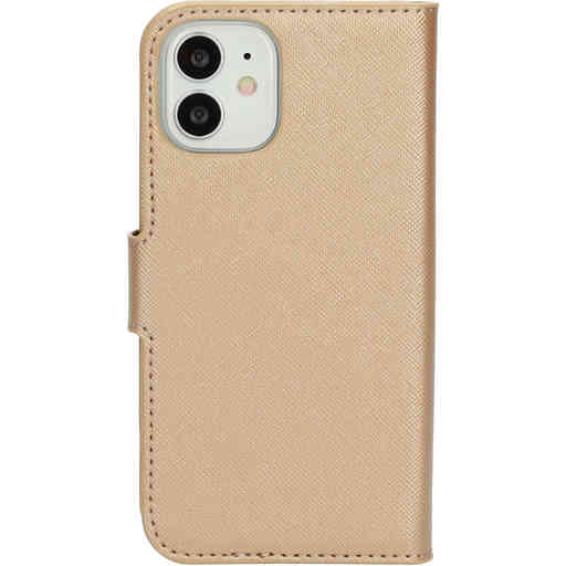 Mobiparts Saffiano Wallet Case Apple iPhone 12 Mini Copper