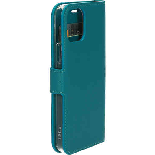 Mobiparts Saffiano Wallet Case Apple iPhone 12/12 Pro Turquoise