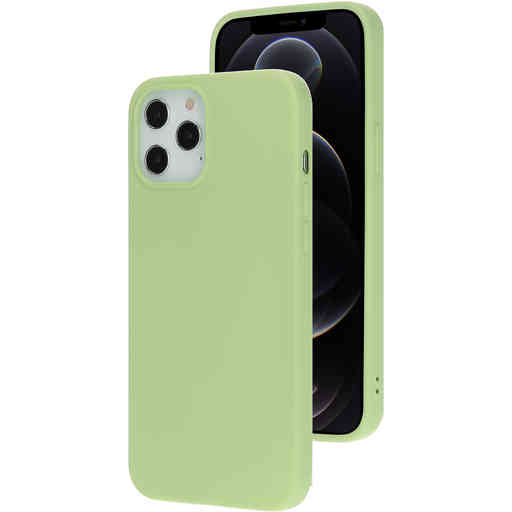 Mobiparts Silicone Cover Apple iPhone 12 Pro Max Pistache Green