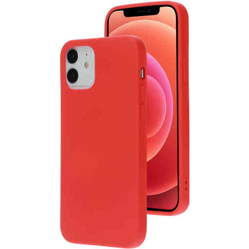 Mobiparts Silicone Cover Apple iPhone 12/12 Pro Scarlet Red